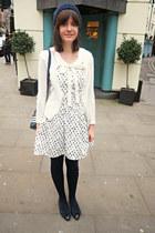 white nautical Bonne Chance dress