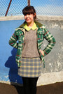 Green-checkered-superdry-jacket