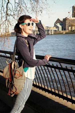 white striped H&M jeans