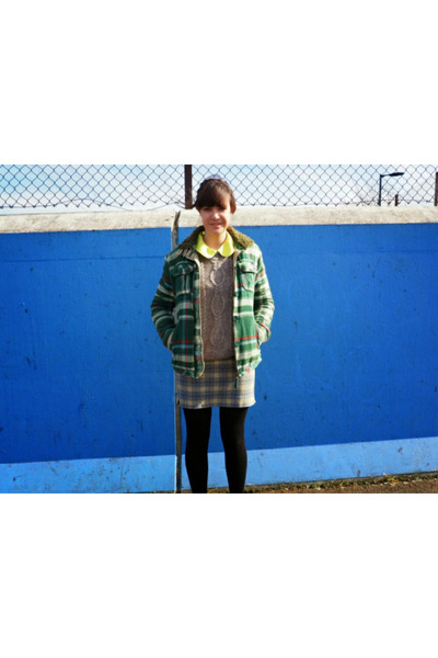 green checkered Superdry jacket