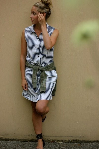 blue striped Paige Denim dress