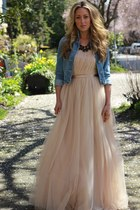 light pink tulle gown Windsor Store dress - black dabney Loren Hope necklace