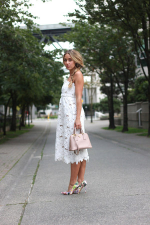 white midi Stone Cold Fox dress