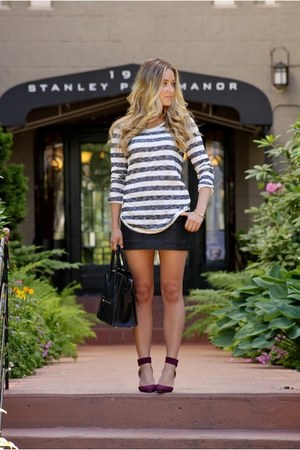black striped Anine Bing shirt