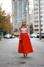 Ruby-red-midi-chicwish-skirt