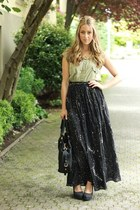 black worn as skirt funktional dress - black leather Marc by Marc Jacobs bag