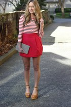 red bubble Zara skirt - ruby red striped Style Mint shirt