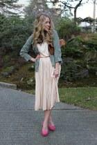 light pink midi 39 by 5 dress - bubble gum suede Elizabeth Brady heels