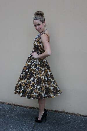 mustard a line Asos Salon dress