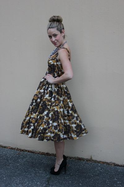 mustard a line Asos Salon dress