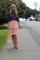 light pink lace Windsor Store skirt