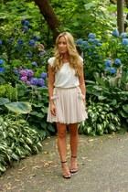 cream floral Skirt skirt