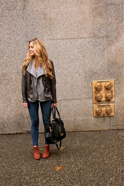 dark gray leather Muubaa jacket