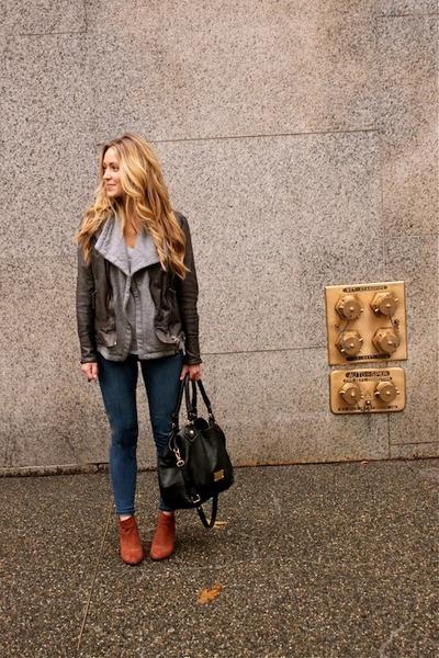dark gray leather Muubaa jacket