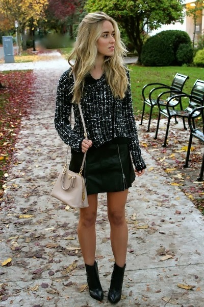 black mini bcbg max azria skirt