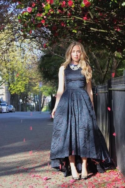 black jacquard H&M dress