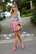 hot pink sandals shoemint heels