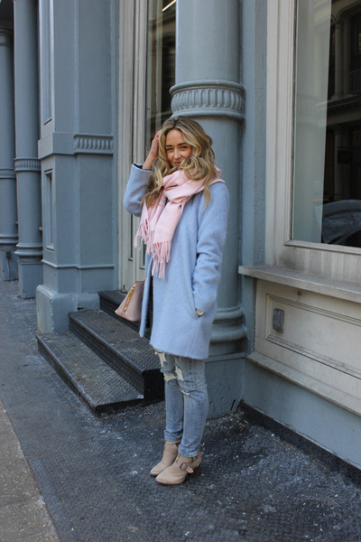light pink scarf acne scarf