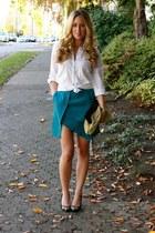 turquoise blue mini Choies skirt