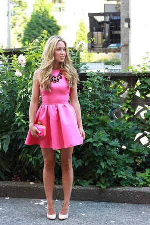 hot pink skater dress beginning boutique dress
