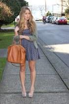 navy floral Jack by BB Dakota dress - tawny madison lindsey coach bag