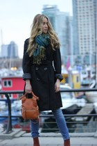 black trench calvin klein jacket - tawny leather Foley and Corinna bag