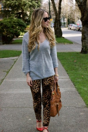 dark brown leopard print Zara pants
