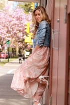 salmon maxi Lovers and Friends dress
