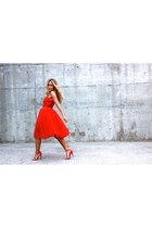 red tulle Chicwish dress