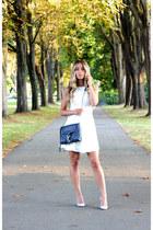 blue cross body Rebecca Minkoff bag