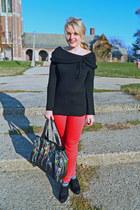 modcloth sweater - BDG jeans - LAMB bag - seychelles wedges
