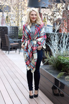 asos scarf - Hudson jeans - Steve Madden pumps - Express belt