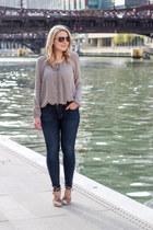 Hudson jeans - Target wedges - Tobi blouse