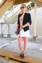 Mango blazer - asos bag - The Limited t-shirt - BCBG pumps - Old Navy skirt