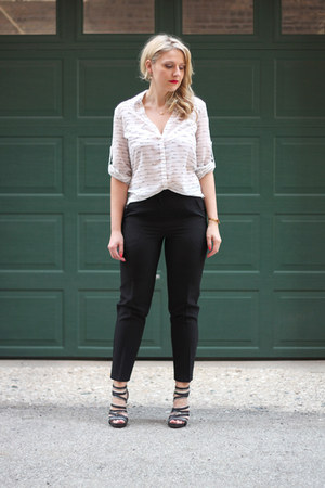 Express blouse - asos pants - Sole Society sandals
