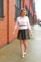 black Urban Outfitters dress - bubble gum banana republic sweater