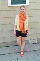 Old Navy sweater - madewell shirt - Forever 21 scarf - Express shorts