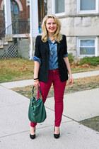 composd jacket - Express jeans - chambray pitaya shirt