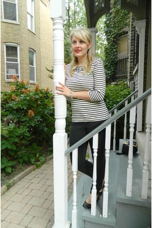 madewell jeans - JCrew blouse - JCrew flats