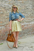 asos skirt - pitaya shirt - Jenna Kator bag - JCrew flats