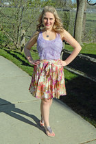 floral modcloth skirt - pastel Express shirt