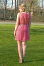 Bubble-gum-pitaya-dress-neutral-aldo-wedges-aquamarine-asos-belt