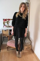 Ebay jumper - asos boots - cotton on blouse - Monki necklace
