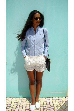 Ralph Lauren shirt - whistles bag - poppy detail Little White Lies shorts