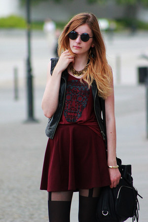 crimson River Island skirt