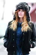 H&M coat - H&M jeans - allegro hat