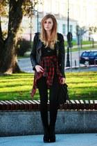 black Sheinsidecom jacket - ruby red New Yorker shirt