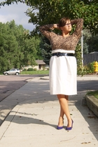 Secondhand skirt - Secondhand sweater - belt - Ebay glasses - secondhand from eb