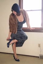 Torn dress - vintage accessories - Converse for Target hat - Claudia Ciuti shoes