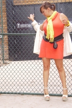 Express dress - Target scarf - Lane Bryant belt - Secondhand sweater - Cathy Jea